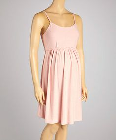Look what I found on #zulily! Peach Maternity Sleeveless Dress by CT Maternity #zulilyfinds