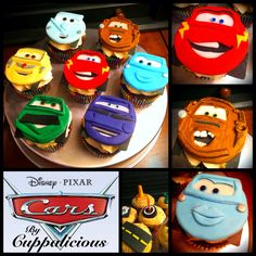 Speciality Cupcakes by Cuppalicious .... Disney PIXAR Cars Cupcakes. Check out To-Mater!