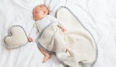 Wie Sie eine Babydecke stricken