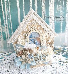 Скраповые радости: Пряничный домик в зимнем лесу.