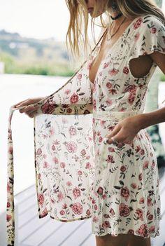 Juniper mini dress in vintage cream @Arnhem Clothing