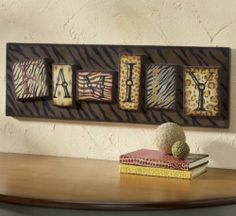 Safari Tribal Animal Print Family Wall Sign Decor Leopard Tiger Zebra