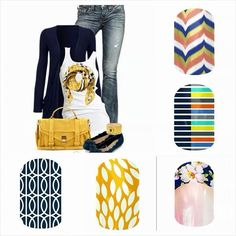Jamberry Nails Fall/Winter Bottom Left to Top Right: Mad Mod, Sunny Lotus, Imperial Tip, Lunar Landing, Soiree Jamberry Fall, Jamberry Nail Wraps, Jamberry Style, Jamberry Outfits, Jamberry Combos, Diy Vinyl Nails, Diy Nails, Manicure, Fall Jams