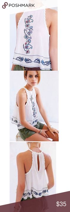 Ecote • Eleanor Crochet Top Only worn once. Super girly and beautiful. Great condition. Urban Outfitters Tops Tank Tops