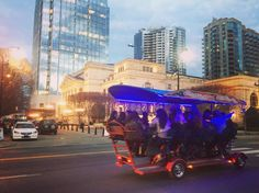 If you're walking down the street and you suddenly hear a roving pack of happy hour cyclists singing Shania Twain you're probably in #DowntownNashville. #touristing #pedaltavern #idontgetiteither