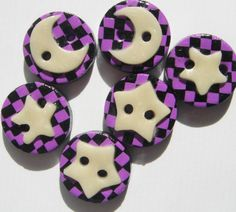 Button Hocus Pocus Glow in the Dark Moon and by digitsdesigns