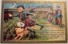 22 Truly Bizarre Vintage Halloween Postcards