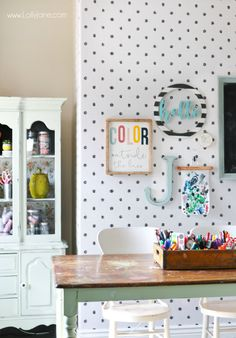 Wall Decor See How Easy It Was To Brighten This Dark Craft Room With Removable Wallpaper Love