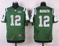 mens nike new york jets 12 joe namath elite green team color nfl jersey