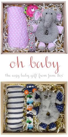 Sending a baby gift has never been easier. June Box makes gift giving easy for all occasions - find the perfect #babygift