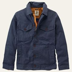 Shop Timberland for the Mount Davis men's chore coats, made with waxed cotton.