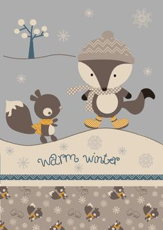 Winter Wallpaper, Christmas Wallpaper, Christmas Illustration, Cute Illustration, Cute Images, Cute Pictures, Baby Posters, Bear Cartoon, Kids Artwork