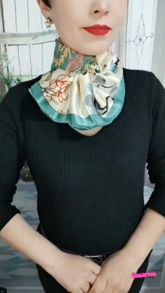 Ways To Tie Scarves, Ways To Wear A Scarf, How To Wear Scarves, Fashion 90s, Knit Fashion, Fashion Outfits, Scarf Wearing Styles, Scarf Styles, Scarf Knots