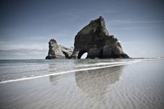 Wharariki Beach, Golden Bay, South Island, New Zealand © Adam Foster Moving To New Zealand, New Zealand Image, Honeymoon Spots, Beaches In The World, South Island, Travel Images, Beach Pictures, Luxury Travel, Places To See