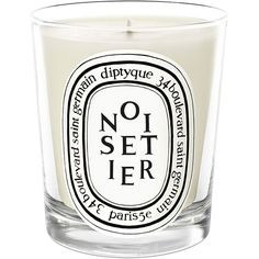 Diptyque Noisetier Mini Candle found on Polyvore featuring home, home decor, candles & candleholders, scented candles, green candles, diptyque, mini scented candles and fragrance candles