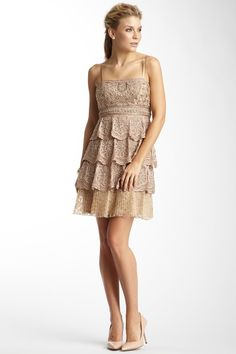 Tiered Beaded Floral Dress by Sue Wong on @HauteLook