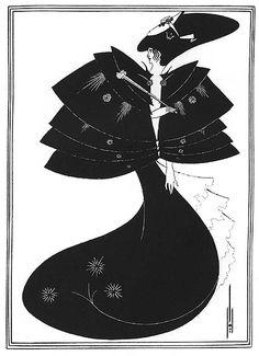 ビアズリー 「サロメ」 黒のケープ