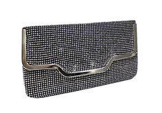 Crystal Rhinestone Pavéd Envelope Clutch Handbag Purse - CP62 -- Check this awesome image  : Handbag Clutches
