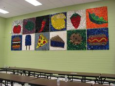 bottle top mural for cafeteria?