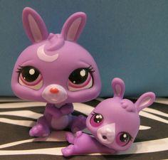 Littlest Pet Shop #3591 & #3592 Mommy & Baby Bunny #Hasbro
