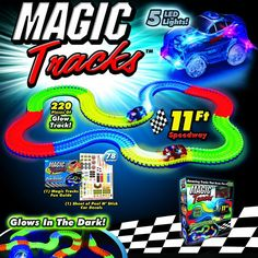 Magic Tracks- We have a double set of the basics with a red car and blue car. https://www.magictracksstore.com/?mid=8482775