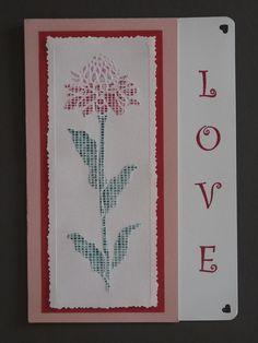 Valentine card--screened coneflower