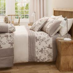 Buy Natural Leaf Embellished Bedding   Bedding   The Range