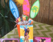 Teen beach inspired centerpiece, surf boards and sun centerpiece READY TO SHIP