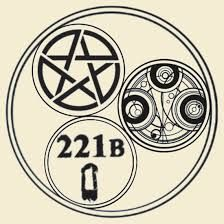This would be such a cool tatoo , just wish I knew what the circular Gallifreyan said for sure