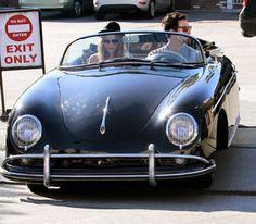 Adam Levine and Victoria's Secret girlfriend #2 take a ride in his Porsche http://www.blackbookonline.com/