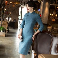 >> Click to Buy << Chinese Traditional Dress New Winter Dress Daily Improved Fashion Slim Cotton Cheongsam Tang Dreamspell Factory Direct Sales  #Affiliate