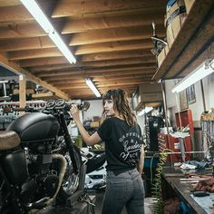 @alicialamson for @pandco  . . . #pandco #photoshoot #clothing #collection #streetwear #life #style #liveauthentic #caffeineandgasoline #motorcycle #triumph #caferacer #model #neversettle #photographer