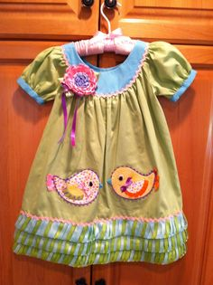 Dress pattern in More Sewing with Whimsy book. Appliqué in Whimsy Appliqué DVD!