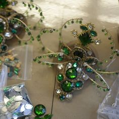 FROM THE ATELIER // A new Emeralds headpiece awaits final touches before this evening's performance.  We open tonight for the final six weeks of the 2015-16 season with George Balanchine's timeless Jewels. On stage Apr 19, 23 eve, 27, 28, & May 1.  #balanchine #theballetjewels #nycballet #nycb #newyorkcity #spring16 #costume