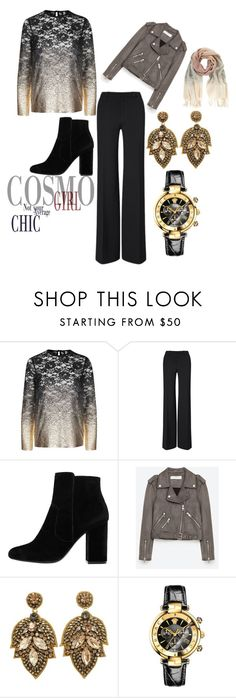 """""""Cosmo Girl"""" by starthief1203 on Polyvore featuring Topshop, Roland Mouret, MANGO, Jakke, Versace and Mint Velvet"""