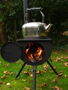 Frontier Stove - Your own portable stove & wood burner! Portable Wood Stove, Portable Toilet, Frontier Stove, Bell Tent Camping, Best Camping Stove, Family Camping, Collapsible Storage Bins, Shower Tent, New Stove