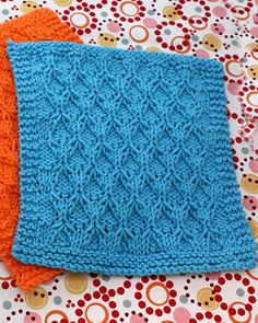 Purls, knits, decreases, and increases combine to produce this gorgeous honeycomb dishcloth in Lily Sugar n Cream.