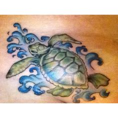 Cool turtle tattoo! :)
