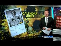 """Today Tonight report - Meeting the Australian cast of the 2010 stage production of """"Calendar Girls"""", featuring Rachel Berger, Lorraine Bayly, Rhonda Burchmor. Calendar Girls, Amanda, It Cast, Fictional Characters, Fantasy Characters"""