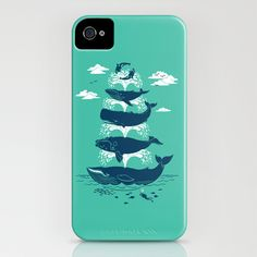 Whale of a Time iPhone Case by Chris Phillips - $35.00