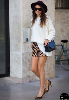 zebra-skirt-with-leopard-pumps-and-chic-sweater