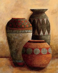 Vessels II Fine-Art Print by Kristy Goggio at Market Vessels II Fine-Art Print by Kristy Goggio at Afrique Art, African Paintings, Gourd Art, Pottery Painting, American Art, Ceramic Art, Painting Inspiration, Find Art, Canvas Art