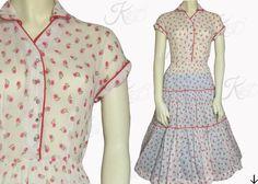 Vintage 50s Dress 1950s Dress 50s Floral Dress by KayDoveVintage, $54.00 #vintage #dress #vintagedress #vintagestyle #style #fashion #vintagefashion #50sstyle #50sfashion #50sdress