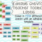 These fun and colorful editable teacher toolbox labels come in 5 color templates:  - Teal           - Coral - Lime          - Yellow - Lavender  Co...