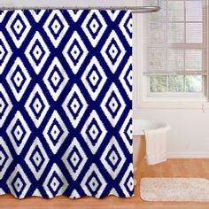 Izzy Shower Curtain in Indigo - BedBathandBeyond.com