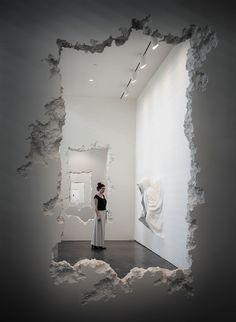 daniel arsham carves 300 foot wall excavation through SCAD museum of art