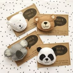 toy bear Felt Panda Koala P - toys Felt Crafts Diy, Felt Diy, Sewing Crafts, Crafts For Kids, Craft Projects, Sewing Projects, Felt Projects, Bear Felt, Rainbow Decorations