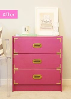 Before and After: A Campaign Chest IKEA Hack » Curbly | DIY Design Community
