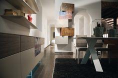 InclinART Vintage by Presotto Industrie Mobili Modular Design, Modern Design, Design System, Italian Furniture, Storage Shelves, Bookshelves, Vintage Designs, Furniture Design, Stairs
