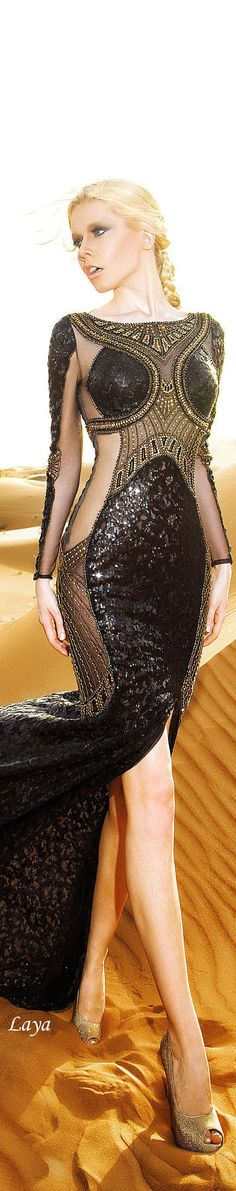 DANY TABET Spring-Summer 2015 COUTURE (I don't love it on this model, but there's something intricate & interesting about the dress itself) Beauty And Fashion, Love Fashion, High Fashion, Fashion Design, Couture Fashion, Runway Fashion, Womens Fashion, Couture Dresses, Fashion Dresses